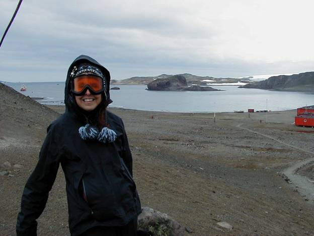 Christine in Antarctica